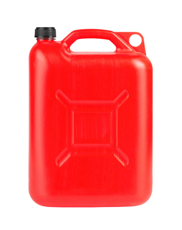 gallon: Red jerrycan isolated on white