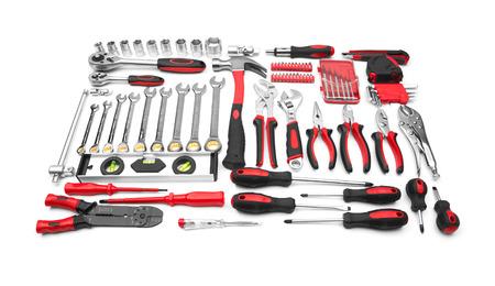 chrome vanadium: Many Tools isolated on white background Stock Photo