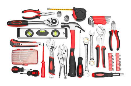 Viele Werkzeuge isoliert auf weißem Hintergrund Standard-Bild - 26349171