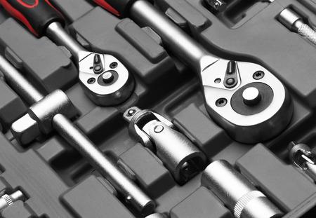 chrome vanadium: Set of wrenches on box