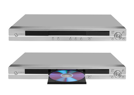 bluray: DVD player isolated on white background Stock Photo
