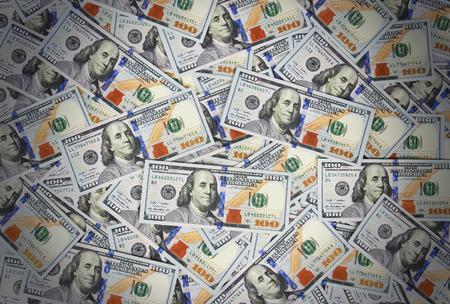 american money: Background with money american hundred dollar bills