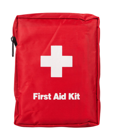 first aid kit: First Aid Kit, isolated on white background
