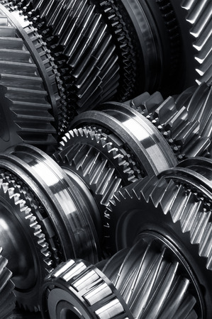cog wheels: Gear metal wheels close-up