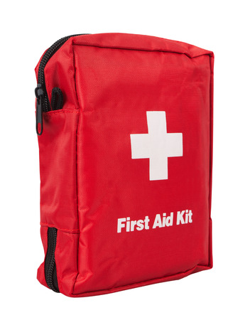 first aid box: First Aid Kit, isolated on white background