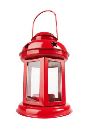 Red Lantern isolated on white background