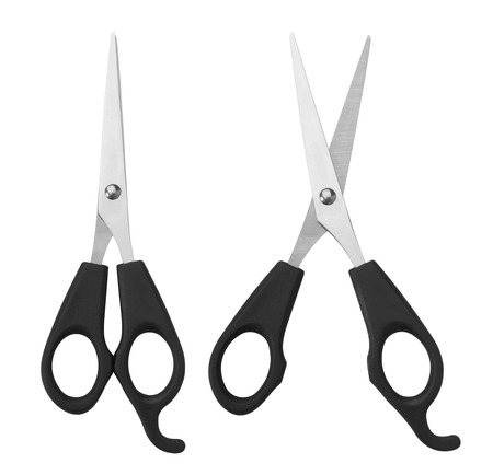 Scissors isolated on white background photo