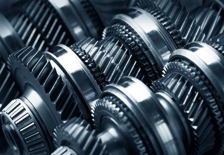ギア金属製車輪のクローズ アップ 写真素材