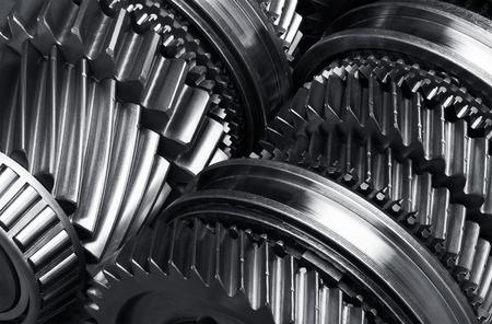 Gear metal wheels close-up