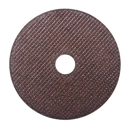 Abrasive disk isolated on white background photo