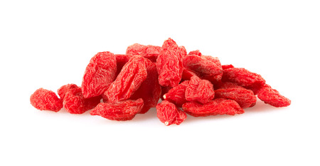 Dried goji berries, isolated on white background photo