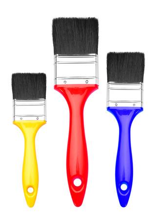 Set of Paint Brush, isolated on a white background photo