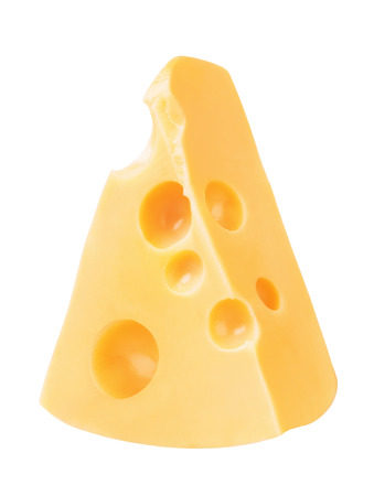 Piece of Cheese, isolated on a white background