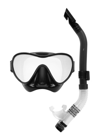 scuba mask: Snorkel and Mask for Diving isolated on white background.
