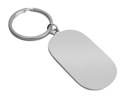 llaves: Llavero con espacio para el texto, aislado sobre fondo blanco
