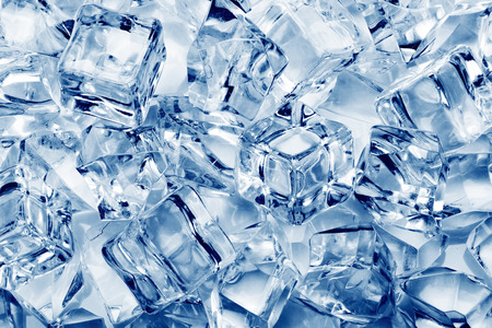 Ice cubes close-up background