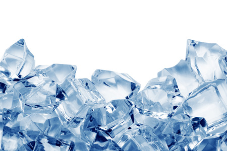 Ice cubes isolated on white background Фото со стока - 40349185