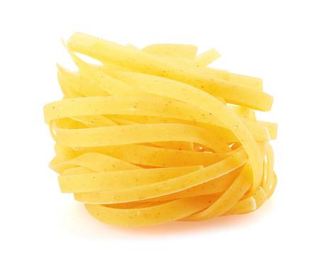 pasta isolated: Tagliatelle italian pasta isolated on white background