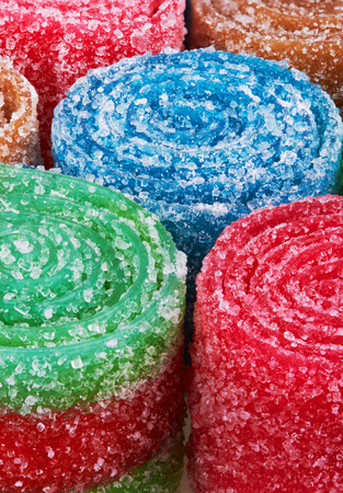 candy background: Sweet colorful candy. Close-up Stock Photo