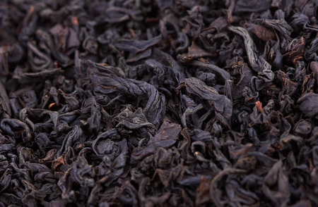 Dry Black Tea leaves close-up Stock Photo