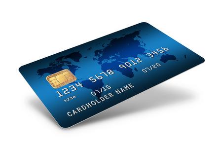 白い背景で隔離のクレジット カード 写真素材