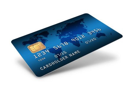 credit card purchase: Credit Card isolated on white background Stock Photo