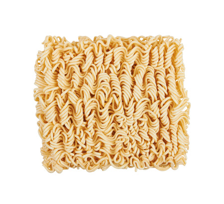 noodles: Instant noodles, isolated on white background