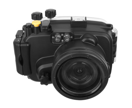 Underwater Camera isolated on white background