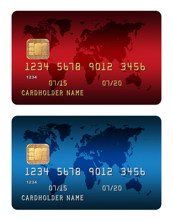 Credit Card isolated on white background Stok Fotoğraf