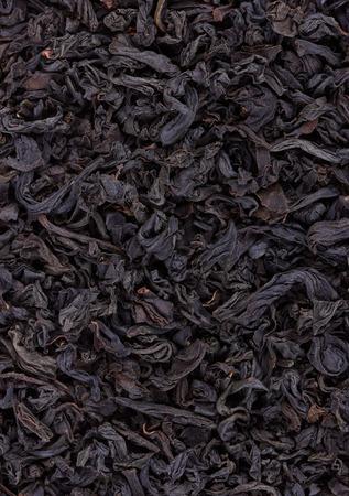 hojas de te: Dry Black Tea leaves close-up Foto de archivo