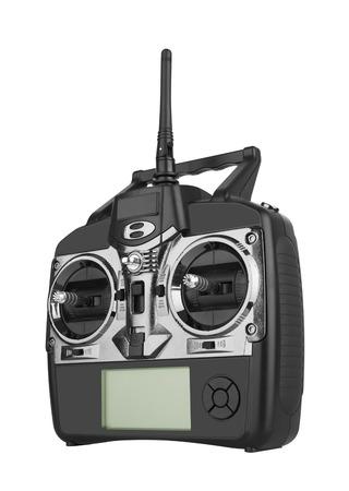 plan éloigné: Radio commande à distance d'isolement sur le fond blanc Banque d'images