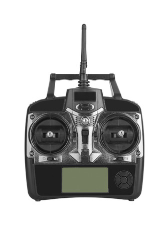 plan éloigné: Radio remote control isolated on white background Banque d'images