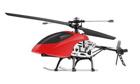 remote controlled: Remote controlled helicopter isolated on white background
