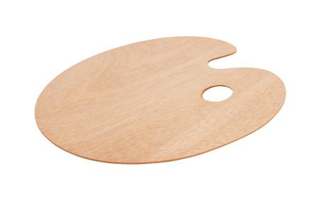 paleta de pintor: paleta de arte de madera, aislado en el fondo blanco