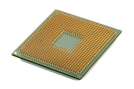cpu: Computer processors CPU isolated on white background