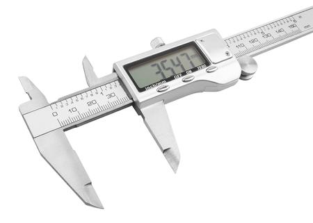 vernier caliper: Dgital Electronic Vernier Caliper, isolated on white background Stock Photo