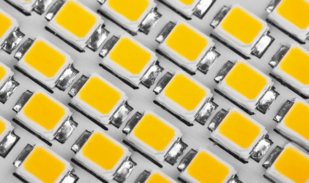 led lighting: lighting LED panel, close-up Stock Photo