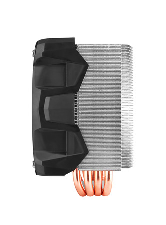 ventilate: Cooler computer fan, isolated on white background