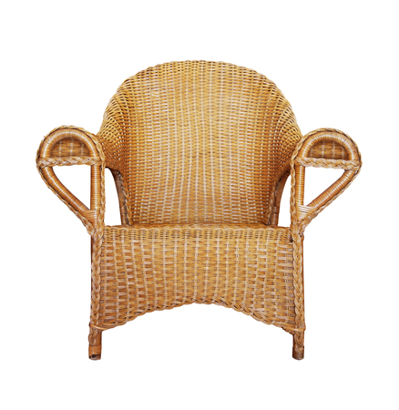 wattled: Wattled Armchair isolated on white background