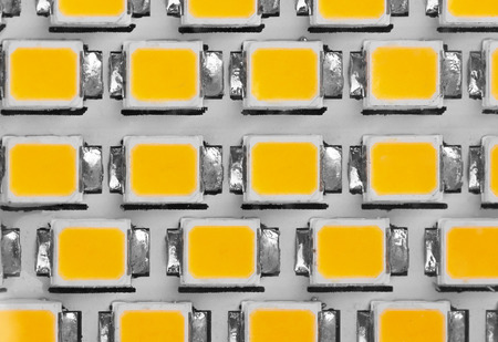kelvin: lighting LED panel, close-up Stock Photo