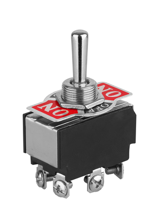 Toggle switch isolated on white background Stock Photo