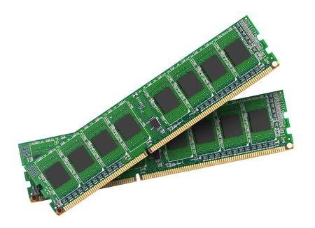 gigabytes: DDR RAM memory module isolated on white background