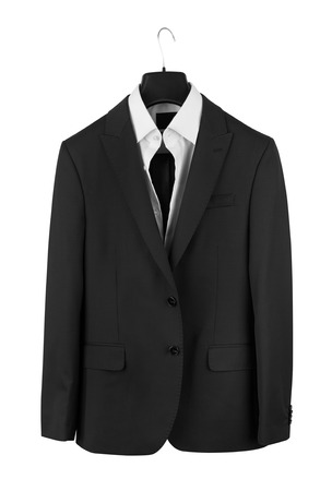 man's suit: Mans suit isolated on a white background Stock Photo