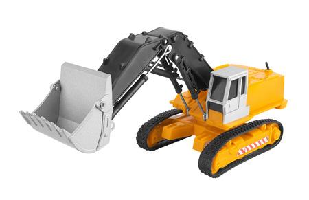 haulage: Bulldozer isolated on white background. Model.