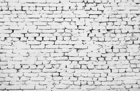 surface level: White brick wall for background or texture