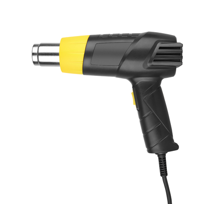 airflow: Heat gun isolated in a white background