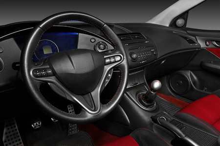 airbag: Interior of a modern automobile showing the dashboard