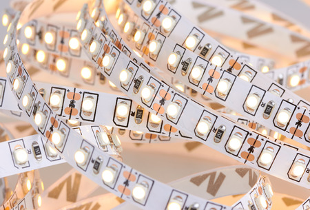 diode: Diode strip. Led lights tape close-up