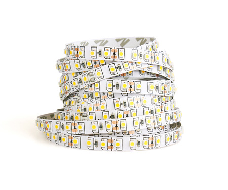diode: Diode strip. Led lights tape isolated on white