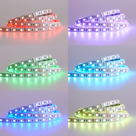 Set of Diode strip. Led lights tape close-up Stok Fotoğraf - 72438068